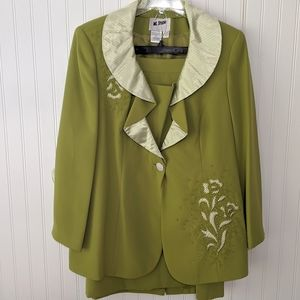 Church Wedding embroidered 3-way skirt suit jacket